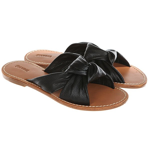 Шлепанцы женские Soludos Knotted Slide Sandal Black шлепанцы женские hurley sample phantom phantom sandal