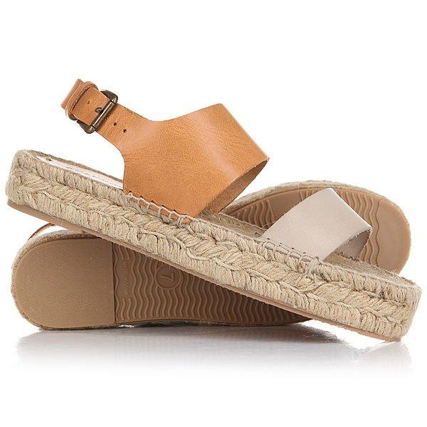 Сандалии женские Soludos Bi-color Platform Sandal Ivory/Nude<br><br>Цвет: бежевый,Светло-коричневый<br>Тип: Сандалии<br>Возраст: Взрослый<br>Пол: Женский