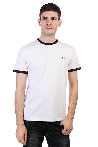 Футболка Fred Perry Ringer T-shirt White<br><br>Цвет: белый<br>Тип: Футболка<br>Возраст: Взрослый<br>Пол: Мужской