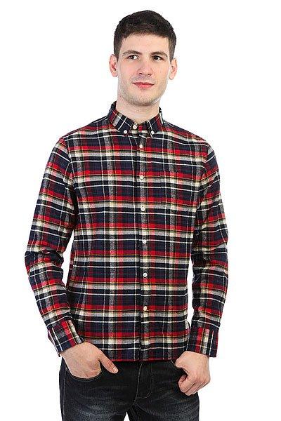Рубашка в клетку Penfield Barrhead Check Shirt Red<br><br>Цвет: синий,красный<br>Тип: Рубашка в клетку<br>Возраст: Взрослый<br>Пол: Мужской