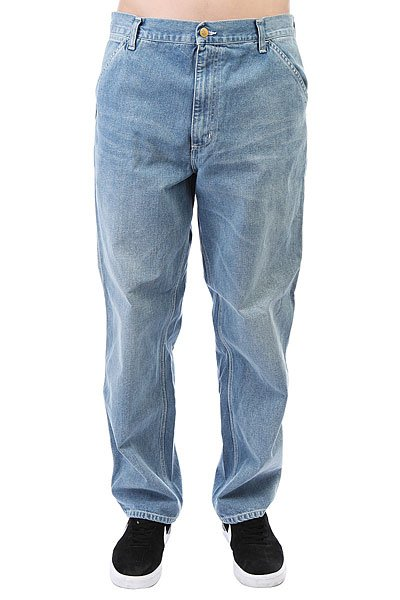 Джинсы прямые Carhartt WIP Simple Pant Blue<br><br>Цвет: голубой<br>Тип: Джинсы прямые<br>Возраст: Взрослый<br>Пол: Мужской