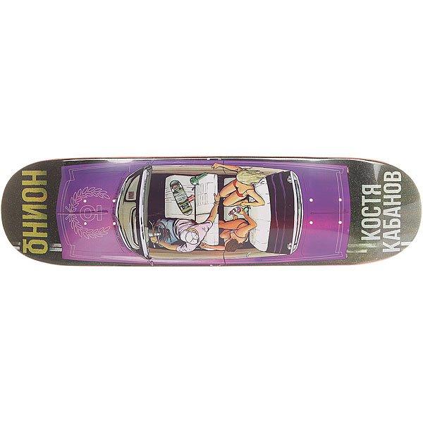 Дека для скейтборда для скейтборда Юнион Кабанов Multi 32 x 8.125 (20.6 см)Ширина деки: 8.125 (20.6 см)    Длина деки: 32 (81.3 см)    Количество слоев: 7  При покупке сейчас Вы получите подарок: Шкурка для скейтборда Юнион Logo Grip Black (One Size)<br><br>Цвет: мультиколор<br>Тип: Дека для скейтборда