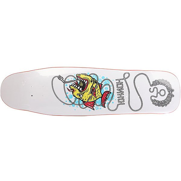 Дека для скейтборда для лонгборда Юнион Fish White 9 x 33 (84 см)Количество слоев: 7  При покупке сейчас Вы получите подарок: Шкурка для скейтборда Юнион Logo Grip Black (One Size)<br><br>Цвет: белый,мультиколор<br>Тип: Дека для круизера