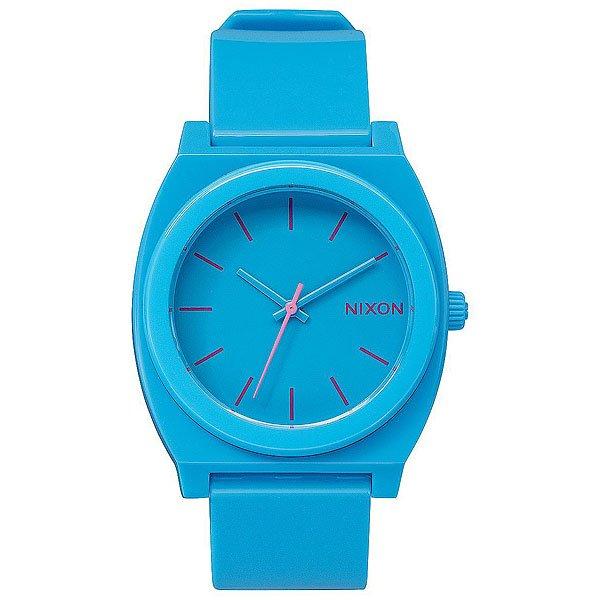 Кварцевые часы Nixon Time Teller Bright Blue<br><br>Цвет: голубой<br>Тип: Кварцевые часы<br>Возраст: Взрослый<br>Пол: Мужской