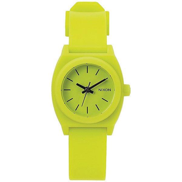 Кварцевые часы Nixon Small Time Teller Lime<br><br>Цвет: зеленый<br>Тип: Кварцевые часы<br>Возраст: Взрослый<br>Пол: Женский