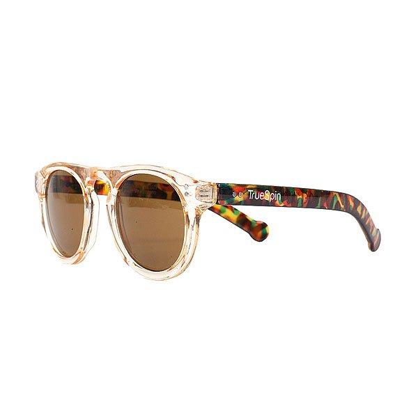 Очки женские TrueSpin Intro Beige/Dark AmberСолнцезащитные очки TrueSpin в круглой оправе из прочного пластика с ярким принтом и логотипом на дужках.Технические характеристики: Круглая оправа.Надёжный механизм.Линзы с защитой от ультрафиолета UV400.Материал - пластик.Длина дужки - 14 см, ширина оправы - 14 см, высота линзы - 5 см.<br><br>Цвет: коричневый<br>Тип: Очки<br>Возраст: Взрослый<br>Пол: Женский