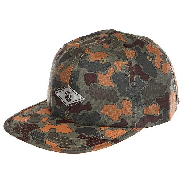 Бейсболка с прямым козырьком Element Travel Well Cap Jungle Camo<br><br>Цвет: черный,зеленый,коричневый,камувляжный<br>Тип: Бейсболка с прямым козырьком<br>Возраст: Взрослый
