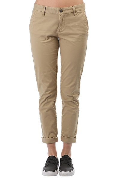Штаны прямые женские Element Keith Desert Khaki штаны прямые billabong new order chino khaki
