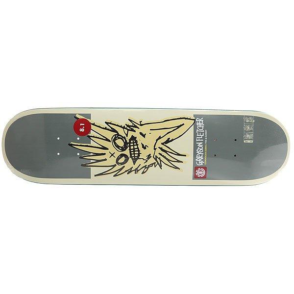 Дека для скейтборда для скейтборда Element Gr. Elementalist Beige/Grey 31.75 x 8.125 (20.6 см)Ширина деки: 8.125 (20.6 см)    Длина деки: 31.75 (80.6 см)    Количество слоев: 7<br><br>Цвет: серый,бежевый<br>Тип: Дека для скейтборда<br>Возраст: Взрослый<br>Пол: Мужской