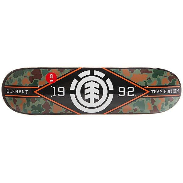 Дека для скейтборда для скейтборда Element Jungle M. League Multi 31.75 x 8.2 (20.8 см)Ширина деки: 8.2 (20.8 см)    Длина деки: 31.75 (80.6 см)    Количество слоев: 7<br><br>Цвет: мультиколор<br>Тип: Дека для скейтборда<br>Возраст: Взрослый<br>Пол: Мужской