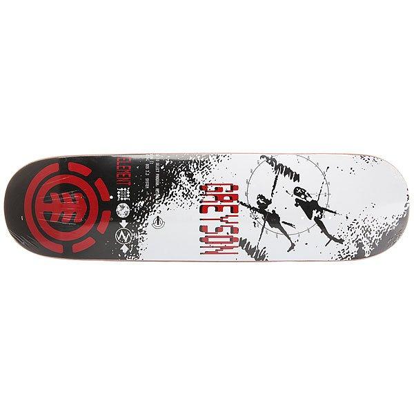 Дека для скейтборда для скейтборда Element Greyson Lo-fi White/Red/Black 31.75 x 8.25 (21 см)Ширина деки: 8.25 (21 см)    Длина деки: 31.75 (80.6 см)    Количество слоев: 7<br><br>Цвет: белый,черный,красный<br>Тип: Дека для скейтборда<br>Возраст: Взрослый<br>Пол: Мужской