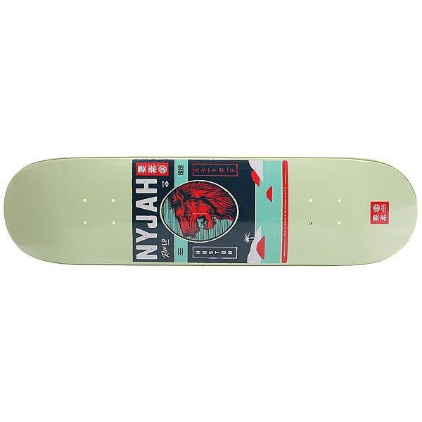 Дека для скейтборда для скейтборда Element Nyjah Cover Green/Multi 31.875 x 8 (20.3 см)Ширина деки: 8 (20.3 см)    Длина деки: 31.875 (81 см)    Количество слоев: 7<br><br>Цвет: зеленый,мультиколор<br>Тип: Дека для скейтборда<br>Возраст: Взрослый<br>Пол: Мужской