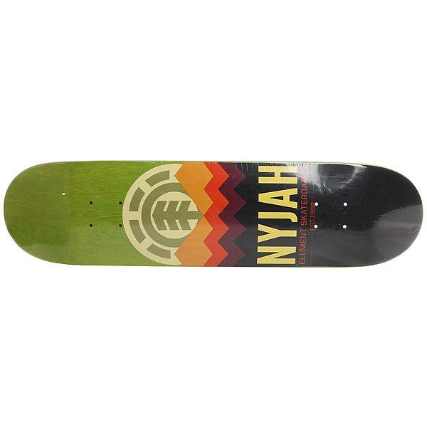Дека для скейтборда для скейтборда Element Nyjah Ranger Green/Black/Multi 31.625 x 7.7 (19.6 см)Ширина деки: 7.7 (19.6 см)    Длина деки: 31.625 (80.3 см)    Количество слоев: 7<br><br>Цвет: зеленый,черный,мультиколор<br>Тип: Дека для скейтборда<br>Возраст: Взрослый<br>Пол: Мужской