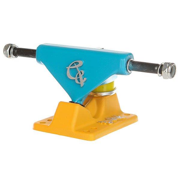 Подвески для скейтборда для пластборда 2шт. Вираж Blue/Yellow 3.5 (8.9 см)