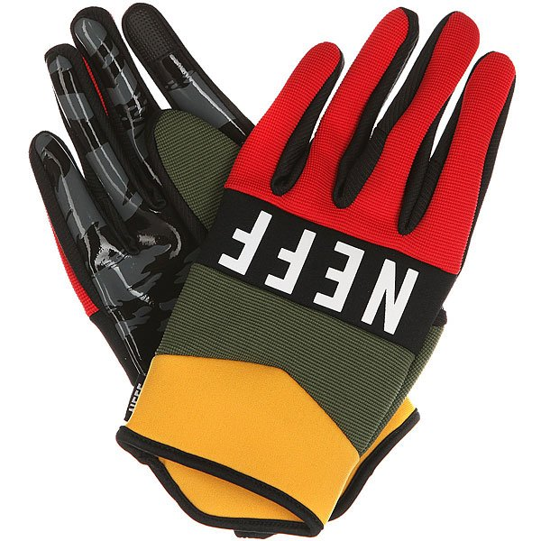Перчатки сноубордические Neff Ripper Glove Rasta перчатки сноубордические dakine scout glove rasta