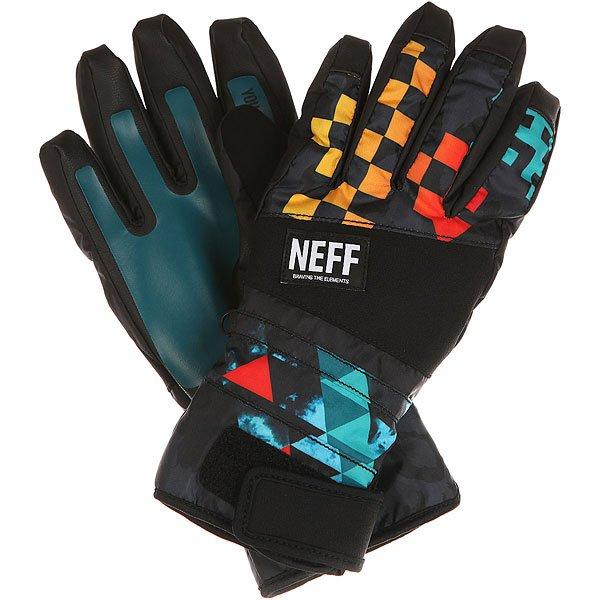 Перчатки сноубордические Neff Digger Glove Psychosafari перчатки сноубордические neff roverul