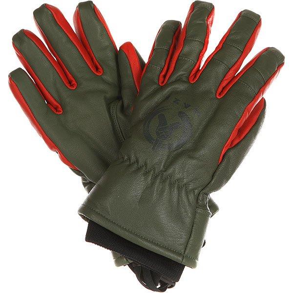 Перчатки сноубордические Neff Kazu Work Glove Olive перчатки сноубордические neff roverul