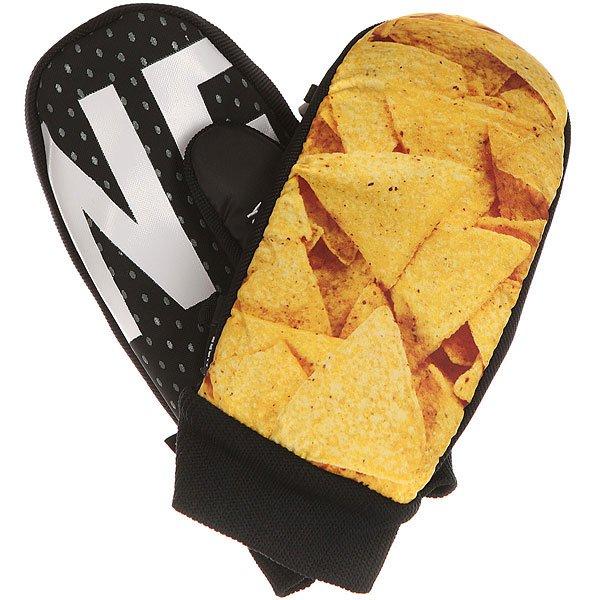 Варежки сноубордические Neff Character Mitt Chips N SalsaNeff Character Mitt – варежки для занятия сноубордингом, которые, несомненно, придутся по вкусу самым стильным молодым людям. Модель выполнена в черном цвете с оригинальным желтым рисунком. Они отлично защищают от холода.Характеристики:Рифленые манжеты обладают отличной эластичностью. Материал – полиуретан (двойной). Антискользящее покрытие 2X SPAN полиуретановое покрытие (на стороне ладони материал –кожа). Трикотажная подкладка, которая имеет антимикробную обработку.<br><br>Цвет: черный,мультиколор<br>Тип: Варежки сноубордические<br>Возраст: Взрослый<br>Пол: Мужской