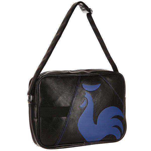 Сумка через плечо Le Coq Sportif Dolicho Reporter Bag Black/Ultra Blue сумки converse сумка flap reporter tricolore