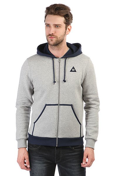 Толстовка классическая Le Coq Sportif Hood Light Heather Grey/Dress le coq sportif толстовка классическая le coq sportif ailier fz hood brushed light heather grey