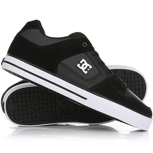 Кеды кроссовки низкие DC Shoes Pure Se Black/Dk Grey<br><br>Цвет: черный<br>Тип: Кеды низкие<br>Возраст: Взрослый<br>Пол: Мужской