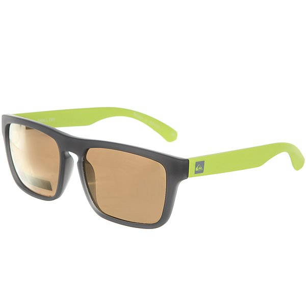 Очки детские Quiksilver Small Dark Grey/Lime