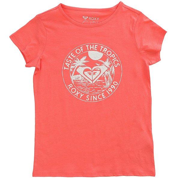 Футболка детская Roxy Galaxyseventies Sugar Coral<br><br>Цвет: розовый<br>Тип: Футболка<br>Возраст: Детский