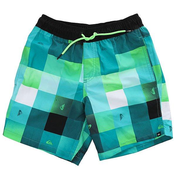 Шорты пляжные детские Quiksilver Checkmarkvly15 Viridian Green шорты для мальчиков quiksilver eqbws03006 возраст 12 лет цвет gks0 beryl green