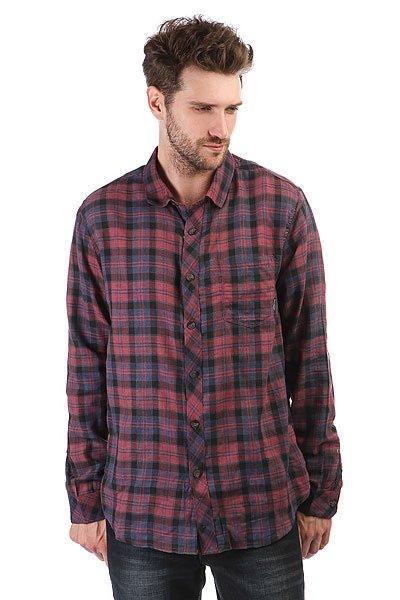 Рубашка в клетку Billabong Fremont Flannel Red Heather<br><br>Цвет: Темно-красный,синий<br>Тип: Рубашка в клетку<br>Возраст: Взрослый<br>Пол: Мужской