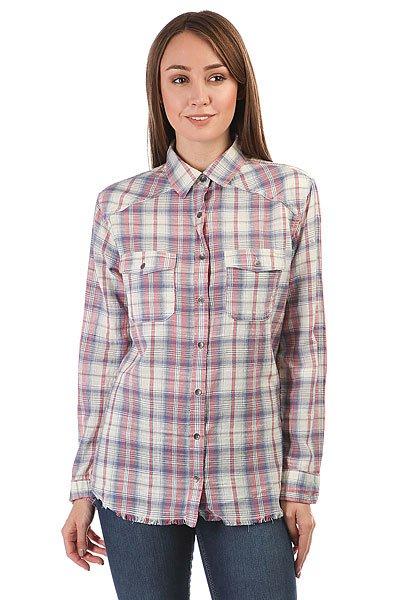 Рубашка в клетку женская Billabong Riding Solo White Cap<br><br>Цвет: бежевый,голубой,Светло-розовый<br>Тип: Рубашка в клетку<br>Возраст: Взрослый<br>Пол: Женский