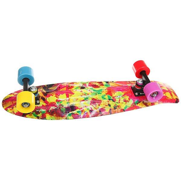 Скейт мини круизер Penny Nickel 27 Kaleidoscope 7.5 x 27 (69 см)Совершенная форма и универсальность доски понравится как новичкам, так и профессиональным скейтбордистам. А разноцветные стильные колеса и винты прекрасно дополняют дизайн! Этот Penny — увеличенный вариант модели Kaleidoscope из коллекции 2017 года.Технические характеристики: Длина - 68,6 см, ширина - 19 см.Вес - 3 кг.Подвеска Custom 4? из алюминия.Колеса из полиуретана 59 мм 78А.Подшипники Penny Abec 7.Вес райдера до 130 кг.<br><br>Цвет: мультиколор<br>Тип: Скейт мини круизер<br>Возраст: Взрослый<br>Пол: Мужской