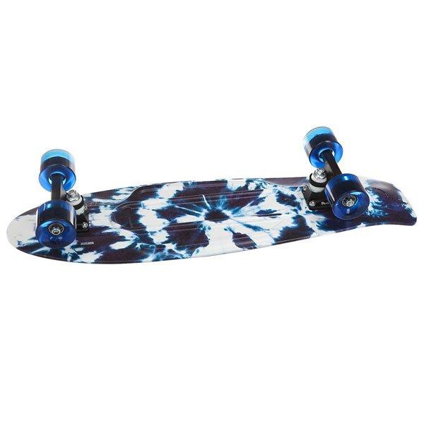 Скейт мини круизер Penny Nickel 27 Indigo Tie Dye 7.5 x 27 (69 см)Главное достоинство этого лонгборда — универсальность. Модель Indigo Tie Dye подойдет как для покорения городских скейт-парков, так и для круизинга по улицам. А прочность 27-дюймовой деки выдержит любой вес райдера.Технические характеристики: Длина - 68,6 см, ширина - 19 см.Вес - 3 кг.Подвеска Custom 4? из алюминия.Колеса из полиуретана 59 мм 78А.Подшипники Penny Abec 7.Вес райдера до 130 кг.<br><br>Цвет: белый,Темно-синий<br>Тип: Скейт мини круизер<br>Возраст: Взрослый<br>Пол: Мужской