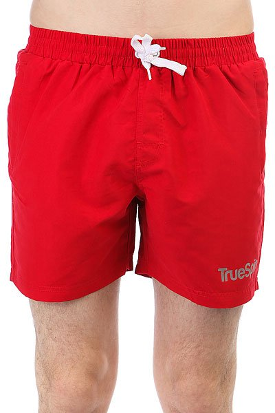 Шорты пляжные TrueSpin Basics Swim Shorts Red<br><br>Цвет: красный<br>Тип: Шорты пляжные<br>Возраст: Взрослый<br>Пол: Мужской