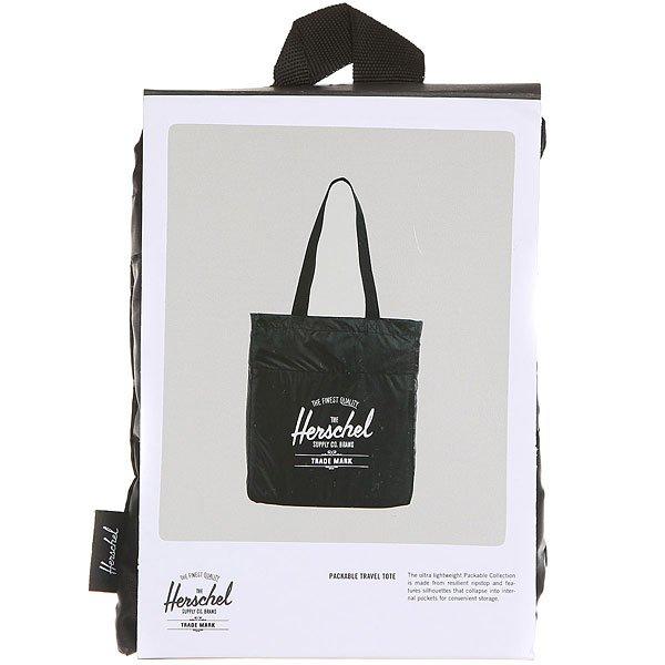 Сумка женска Herschel Packable Travel Tote Black