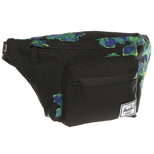 Сумка поясная Herschel Seventeen NeonfloralПовседневная поясная сумка Herschel Supply Co. из прочной ткани.Характеристики:Застегивается сверху на изогнутую молнию. Внутреннее отделение на подкладке. Передний карман на молнии.Регулируемый съемный ремень с пряжкой.<br><br>Цвет: черный,мультиколор<br>Тип: Сумка поясная<br>Возраст: Взрослый<br>Пол: Мужской