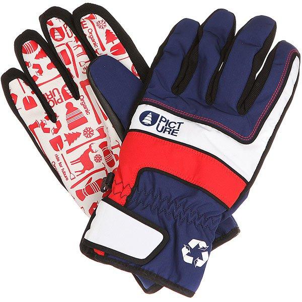 Перчатки сноубордические Picture Organic Gloom Dark Blue<br><br>Цвет: красный,синий,белый<br>Тип: Перчатки сноубордические<br>Возраст: Взрослый<br>Пол: Мужской