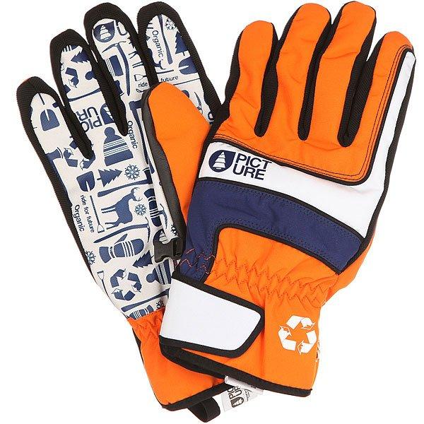 Перчатки сноубордические Picture Organic Gloom Orange<br><br>Цвет: оранжевый,синий,белый<br>Тип: Перчатки сноубордические<br>Возраст: Взрослый<br>Пол: Мужской