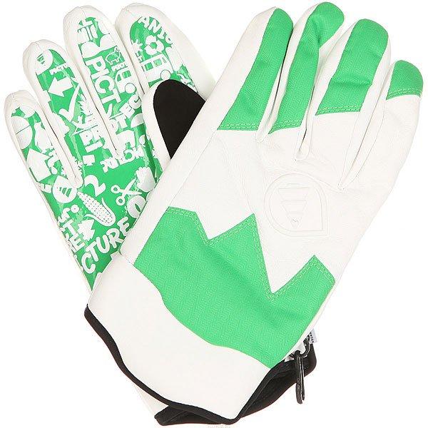 Перчатки сноубордические Picture Organic SHEEPER Green<br><br>Цвет: белый,зеленый<br>Тип: Перчатки сноубордические<br>Возраст: Взрослый<br>Пол: Мужской