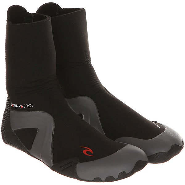 Гидроботинки Rip Curl Dawn Patrol 5mm Boot - Round Toe Black ripani 6023 mm rip 00004 ecru