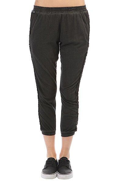 Штаны прямые женские Rip Curl Sant Antoni Pant Black<br><br>Цвет: серый<br>Тип: Штаны прямые<br>Возраст: Взрослый<br>Пол: Женский