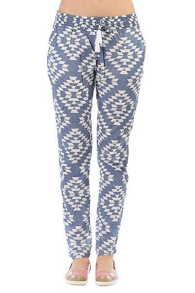 Штаны прямые женские Rip Curl Del Sol Pant Cloud Dancer<br><br>Цвет: синий,белый<br>Тип: Штаны прямые<br>Возраст: Взрослый<br>Пол: Женский