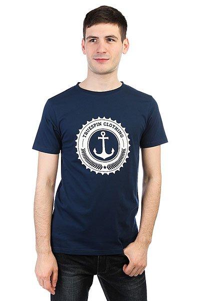 Футболка TrueSpin #2 Navy<br><br>Цвет: Темно-синий<br>Тип: Футболка<br>Возраст: Взрослый<br>Пол: Мужской