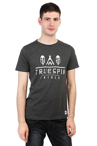 Футболка TrueSpin #8 Dark Gray<br><br>Цвет: Темно-серый<br>Тип: Футболка<br>Возраст: Взрослый<br>Пол: Мужской