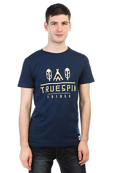 Футболка TrueSpin #8 Navy<br><br>Цвет: Темно-синий<br>Тип: Футболка<br>Возраст: Взрослый<br>Пол: Мужской