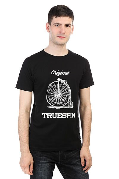 Футболка TrueSpin #6 Deep Black<br><br>Цвет: черный<br>Тип: Футболка<br>Возраст: Взрослый<br>Пол: Мужской