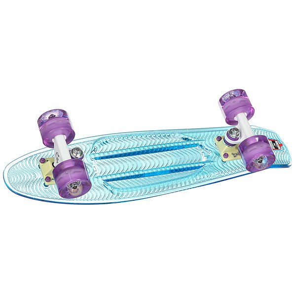 Скейт мини круизер Пластборды Sky Blue 6 x 22.5 (57.2 см)Пластборд  - это пластиковый скейтборд-круизер с загнутым хвостом для передвижения по городу и трюкачества. Очень прочная дека, качественные подвески, подшипники и колеса сделают вашу езду плавной и комфортной.Технические характеристики: Дека из прочного полиуретана повышенной прочности и эластичности.Подвески из алюминия.Бушинги Union 89А.Подшипники - Union Water Prof Abec7 (водонепроницаемая конструкция).Колеса - круизного типа Union Virage диаметром 59 мм со стандартной мягкостью 83А.Нестирающееся цепкое покрытие.Различные расцветки в ассортименте.<br><br>Цвет: голубой,прозрачный,светящиеся колеса<br>Тип: Скейт мини круизер