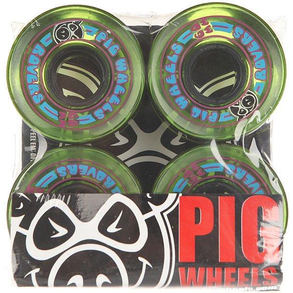 Колеса для скейтборда для лонгборда Pig Rover Green 78A 60 mmДиаметр: 60 mm    Жесткость: 78A    Цена указана за комплект из 4-х колес<br><br>Цвет: зеленый<br>Тип: Колеса для лонгборда<br>Возраст: Взрослый<br>Пол: Мужской