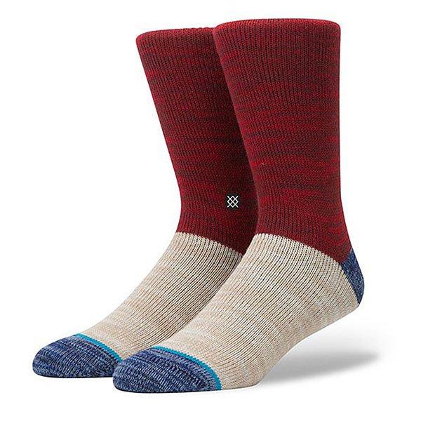 Носки средние Stance Reserve Arica Red<br><br>Цвет: красный,бежевый,синий<br>Тип: Носки средние<br>Возраст: Взрослый<br>Пол: Мужской