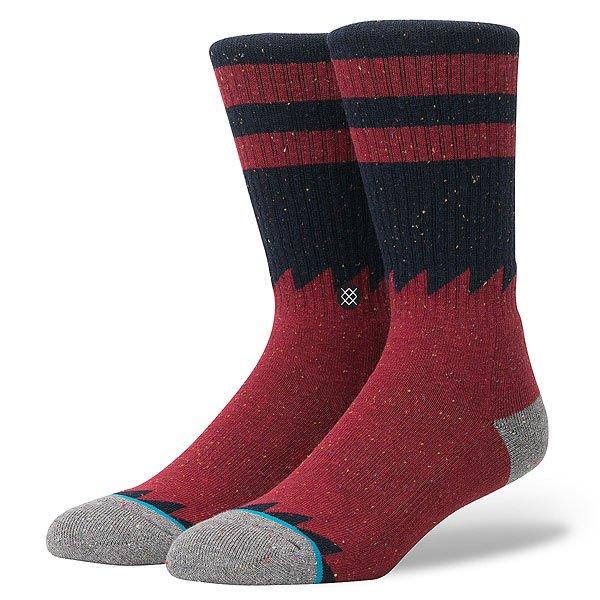 Носки средние Stance Reserve Lopsided Red<br><br>Цвет: Темно-красный,Темно-синий<br>Тип: Носки средние<br>Возраст: Взрослый<br>Пол: Мужской