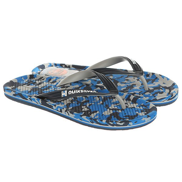 Вьетнамки Quiksilver Haleiwa Print Real Blue/Grey пенал quiksilver pencil print dreamweaver grey